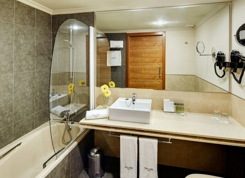 Modern and fully equipped bathrooms.